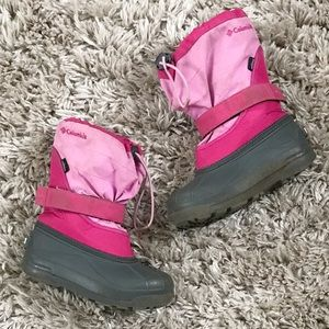 Girls Columbia Pink Winter Boots